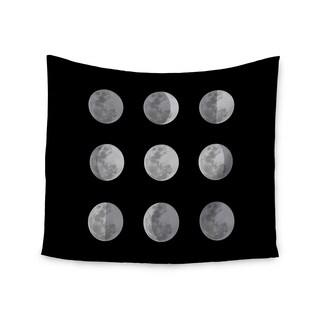 Kess InHouse Jackie Rose 'Lunar OCD' Black Gray51x60-inch Wall Tapestry