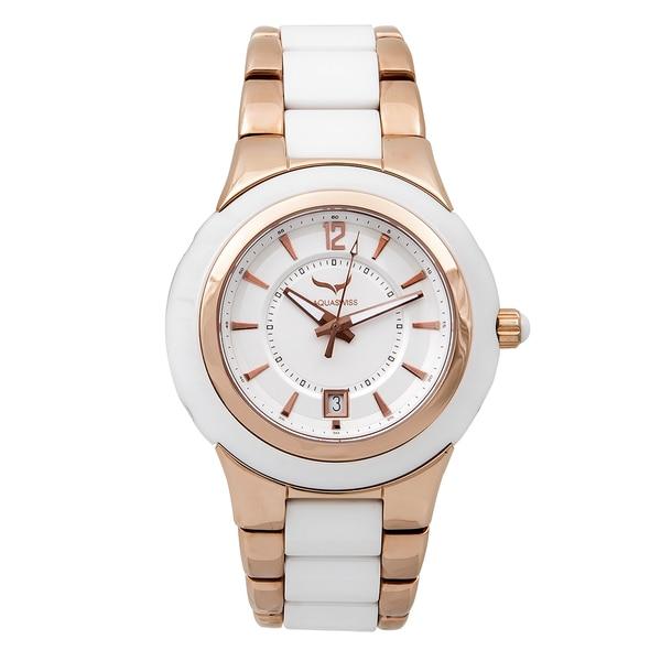 Aquaswiss Unisex 61M003 White/Rose Gold C91 M Watch. Opens flyout.