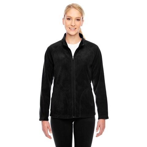Campus Women's Black Microfleece Jacket