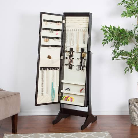 Brown Hanging Jewelry Organizer Closet Organizers Systems