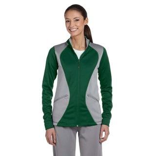 Tech Women's Dark Green/Steel Polyester Fleece Full-zip Cadet