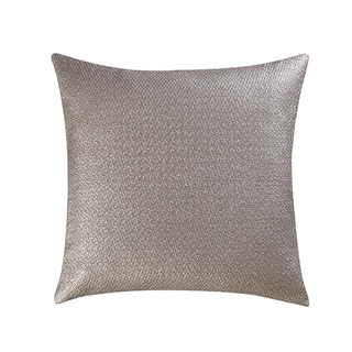 Vince Camuto Lille Metallic Gold Polyester Square Throw Pillow