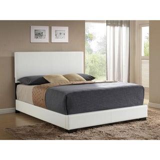 Ireland White PU Bed (Option: King)