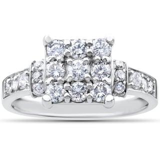 Link to 10k White Gold 1ct TDW Diamond Engagement Ring Similar Items in Wedding Rings