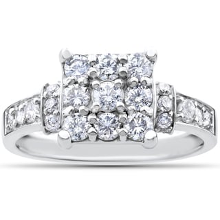 10k White Gold 1ct TDW Diamond Engagement Ring