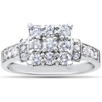 10k White Gold 1ct TDW Diamond Engagement Ring