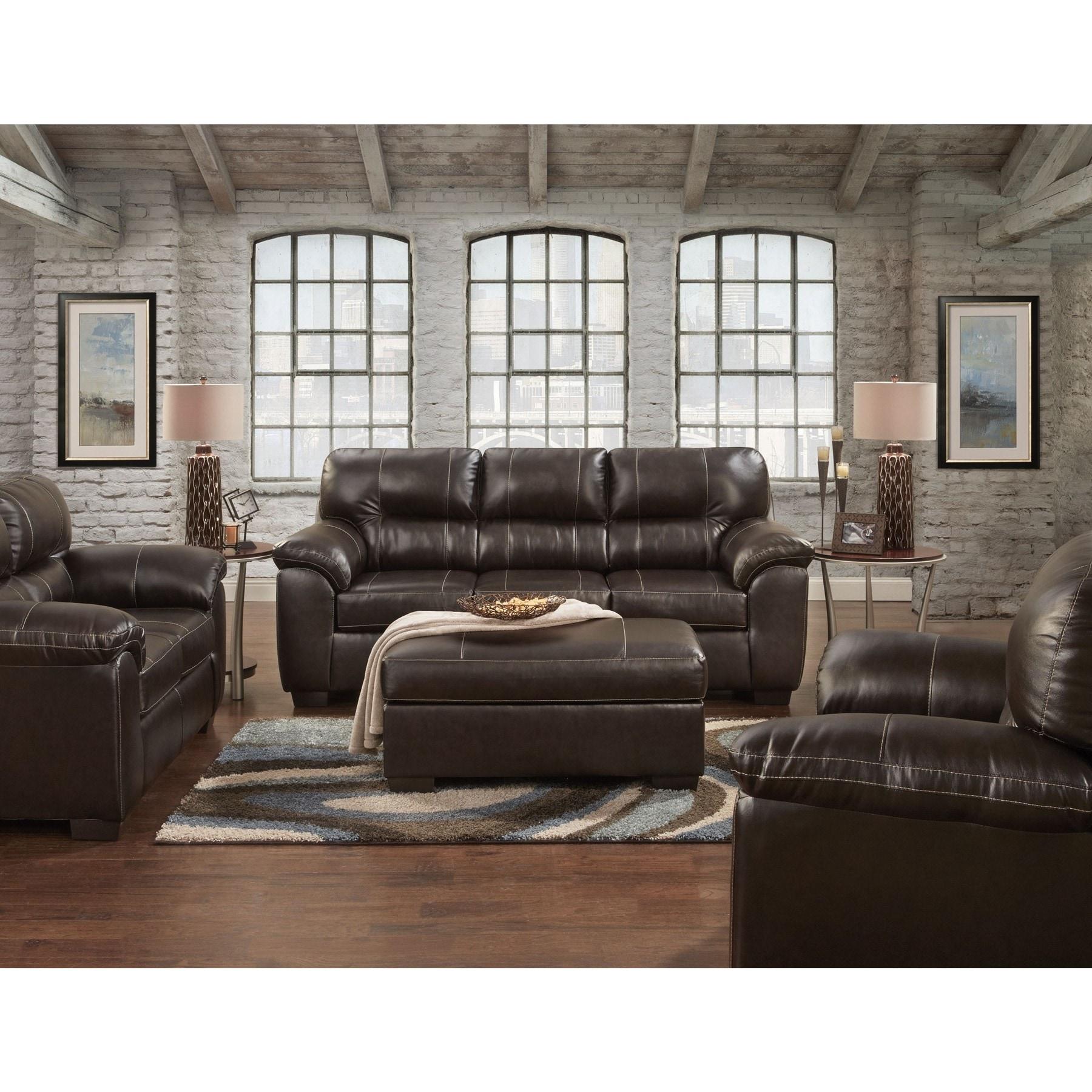 Sofa Trendz Corina Faux Leather Oversize Chair