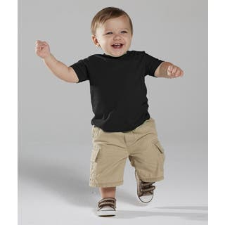 Black Cotton 4.5-ounce Infant Fine Jersey T-shirt|https://ak1.ostkcdn.com/images/products/12138193/P18994615.jpg?impolicy=medium