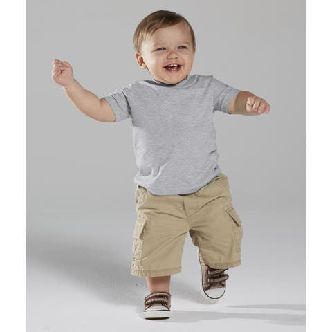 Grey Cotton/Polyester 4.5-ounce Heather Infant Fine Jersey T-shirt