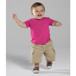 Hot Pink Cotton 4.5-ounce Infant Fine Jersey T-shirt