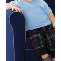 Toddler's Light Blue Cotton Short-sleeved T-shirt