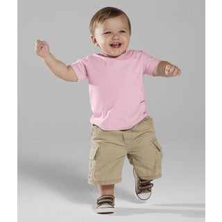 Infant 4.5-ounce Pink Fine Jersey T-shirt