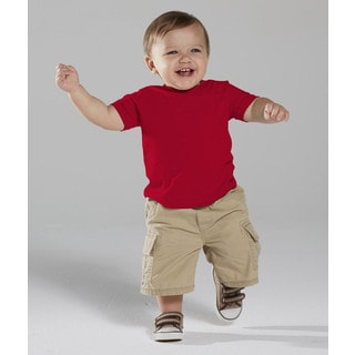 Infant Red Fine Jersey 4.5-ounce T-shirt