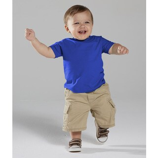 Infant's Blue Cotton Short Sleeve T-shirt