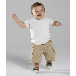 White Cotton 4.5-ounce Infant Fine Jersey T-shirt