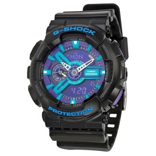 Casio Men's GA-110HC-1ACR 'G-Shock' Analog-Digital Black Resin Watch