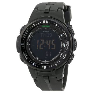 Casio Men's PRW-3000-1ACR 'Pro Trek' Digital Black Resin Watch