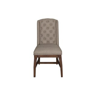 Arlington House Burlap Linen Upholstered Host Chair