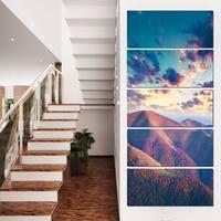 Carpathian Hills Under Clouds - Landscape Photo Canvas Print - Blue