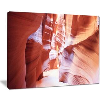 Panoramic View Antelope Canyon - Landscape Photo Canvas Print