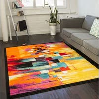 Well Woven Modern Squares Mid-Century Multi Area Rug - 7'9 x 9'9