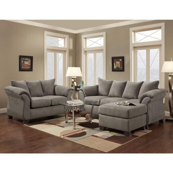 Shop Sofa Trendz Cailyn 3 Piece Grey Sofa Chaise Set