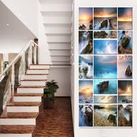 Sea and Shore Collage - Seascape Photo Canvas Art Print