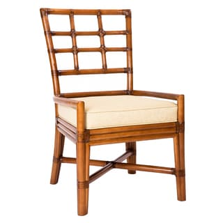 Chelsea Stained Wood/Rattan Side Chair