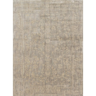 Lucca Floral Stone/ Ivory Rug (9'6 x 13')