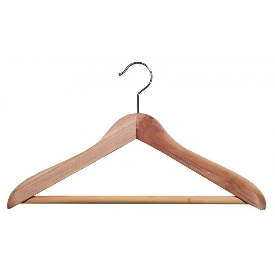 American Curved Cedar Top Hanger With Bar (box of 12), Br...