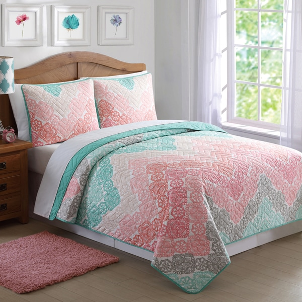 Laura Hart Kids Antique Chevron 3-piece Quilt Set