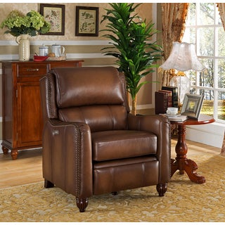 Dartmouth Top Grain Leather Power Recliner with USB Port and Memory Foam Seating