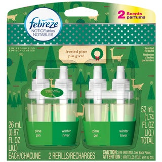Febreze Noticeables Notables Dual Frosted Pine Scented Refills (Pack of 2)