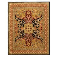 "Hand-tufted Wool Black Transitional Oriental Polonaise Rug (8'9 x 11'9) - 8'9"" x 11'9"""