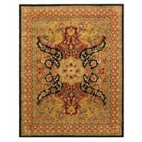 Hand-tufted Wool Black Transitional Oriental Polonaise Rug - 5' x 8'