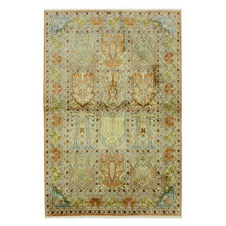 Hand-knotted Silk Traditional Oriental Kashmir Rug (4' x 6')