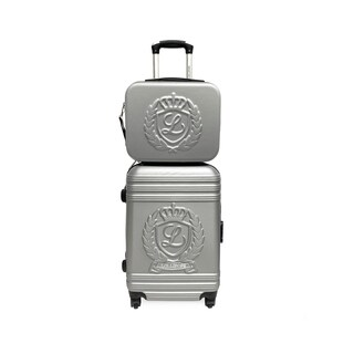 Lollipops Silver 2-piece Hardsided Carry-on Spinner Luggage and Vanity