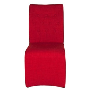 Modern Life Sandra Red Fabric Dining Chairs (Set of 2)