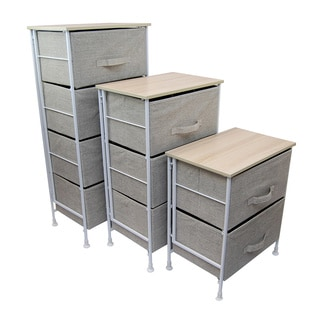 Knock Down Storage Chest with Foldable Bin