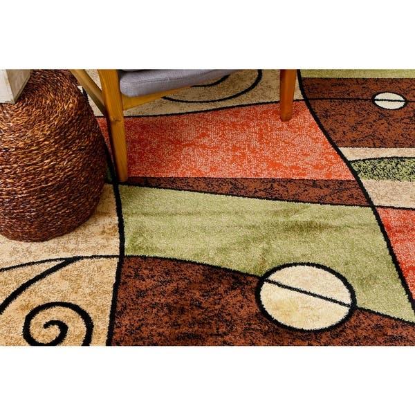 Orange Beige Brown Green Ivory