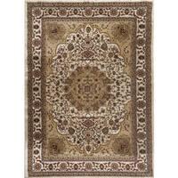 Persian Rugs Cream/Ivory/Beige/Burgundy Oriental Traditional Area Rug - 5' 2 x 7' 2