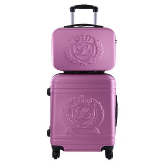 Lollipops Pink 2-piece Hardsided Carry-on Spinner Luggage and Vanity