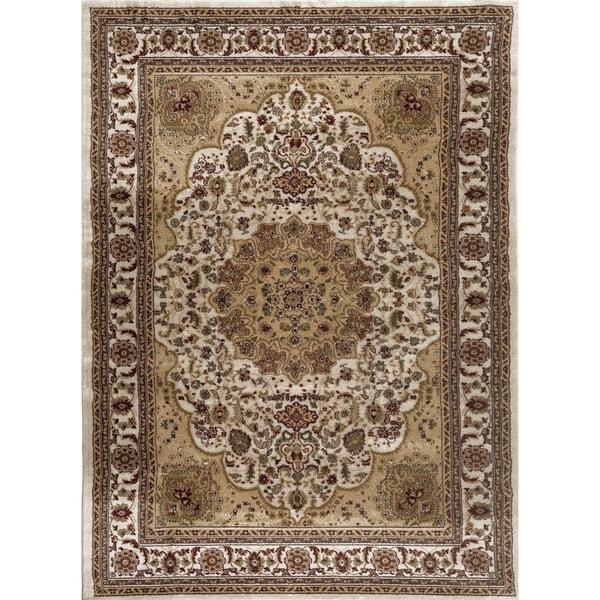 Persian Rugs Cream Ivory Beige Burgundy Oriental