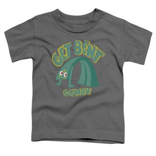 Gumby/Get Bent Short Sleeve Toddler Tee in Charcoal