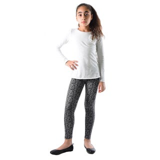 Dinamit Girls Black/White Nylon/Spandex Printed Legging