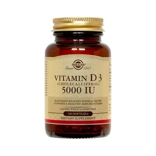 Solgar Vitamin D3 5000 IU (100 Softgels)