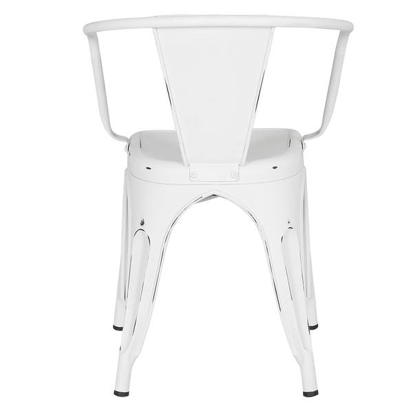 Fine Shop Poly And Bark Trattoria Distressed Matte Metal Dining Bralicious Painted Fabric Chair Ideas Braliciousco