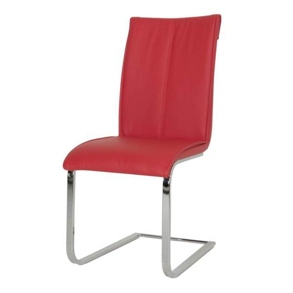 Phenomenal Shop Modern Life Mack Red Faux Leather Chrome Dining Chairs Camellatalisay Diy Chair Ideas Camellatalisaycom