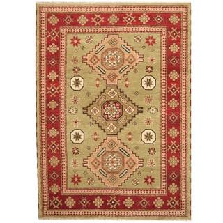 Herat Oriental Indo Hand-knotted Tribal Kazak Wool Rug (5'8 x 8')
