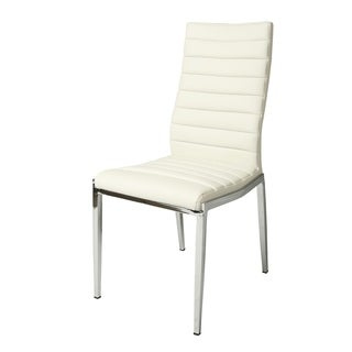 Trinity Set of 2 White Polyurethane/Steel Side Chairs